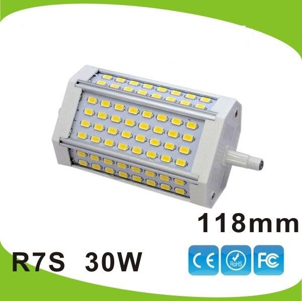 Dimmable 30w R7S led light 118mm RX7S led bulb lamp No fan J118 R7S 300w halogen lamp AC110 240V