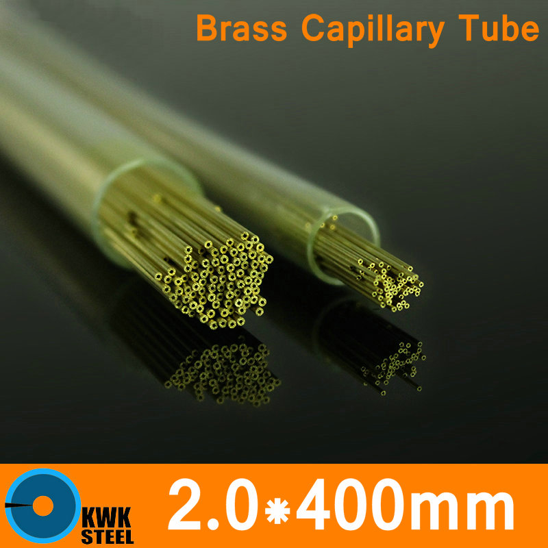 OD 2.0mm * 400mm Lunghezza tubo capillare in ottone Diametro piccolo tubo di ASTM C28000 CuZn40 CZ109 C2800 H62 Materiale dell'elettrodo
