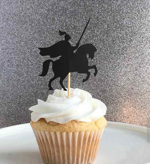 Fine Knights Medieval Birthday Wedding Cupcake Toppers Baptism Funny Birthday Cards Online Overcheapnameinfo