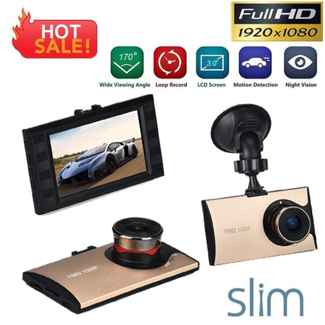 2016 hot sale fashion new gold 3' Full HD 1080P Car DVR Dash Camera G-sensor Vehicle Video Cam Recorder very nice