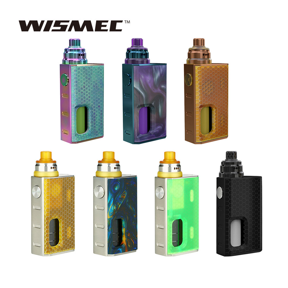 New Original WISMEC Luxotic Squonker Kit Tobhino BF RDA & 7.5ml Bottle 100W Output Luxotic Squonker Vape Kit No 18650 Battery
