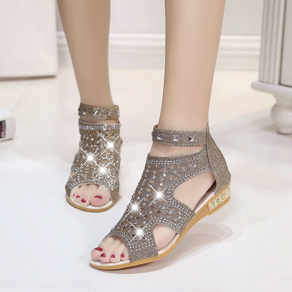 JAYCOSIN Sandals Fashion Summer Shoes Fish-Mouth Hollow Woman Ladies Spring 42 Wedge
