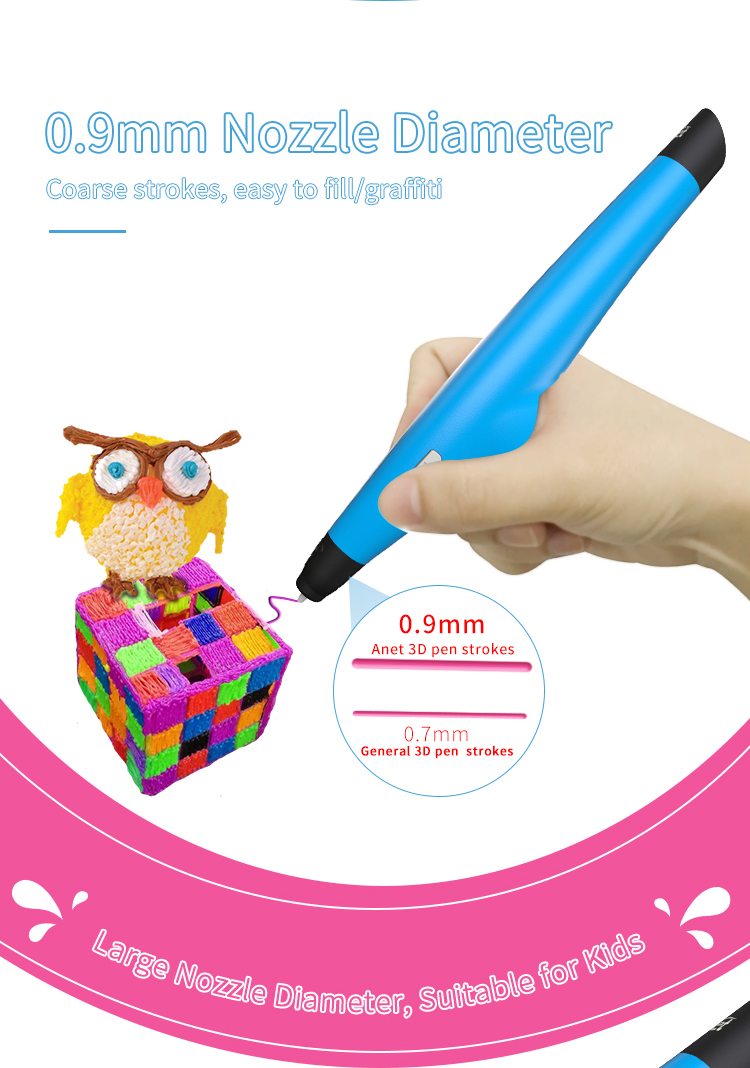 Low Temperature 3D DIY Drawing Pen with 2rolls