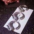 Новое прибытие моды роскошь заявление леопарда полный камень кристалл женщин высокого качества кольца для женщин кольца ювелирные изделия 1051
