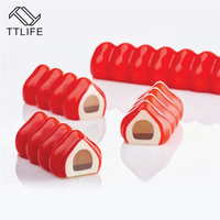 TTLIFE Strawberry Strip Shape Silicone Cake Mold Chocolate Mousse Cake Bakeware Fondant Pudding Confectionery Pastry Baking Pan