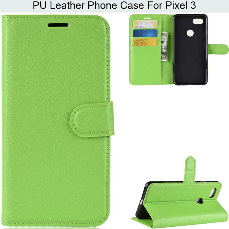 Lichi Skin Ultra Thin Light Weight Leather Phone Case For Google Pixel 3