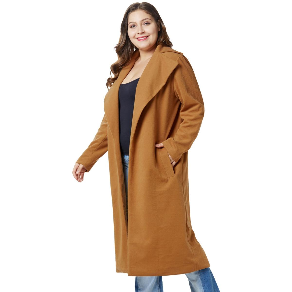 360c423a6e0 Nouvelle-tendance-femmes-pardessus-de-graisse-d-hiver-costume-Revers-longue-veste-de- laine-croix-fronti.jpg