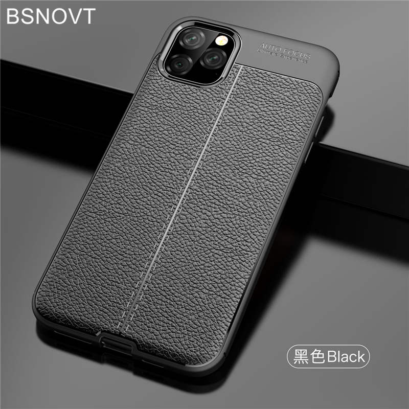 For iPhone 11 Pro Max Case Soft Silicone Shockproof Leather Cover 6.5 BSNOVT