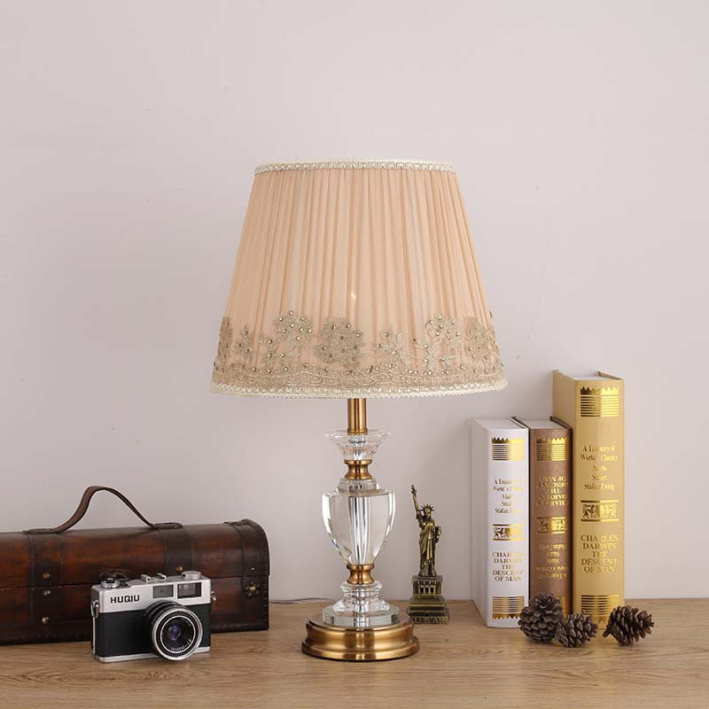 small crystal table lamps promotionshop for promotional small, Bedroom decor