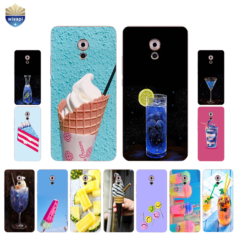For Meizu Pro 6 / 6S Phone Case For Meizu Pro 5 Shell Pro6 7 Plus Back Cover Soft TPU For Meilan M3X Coque Drink Dessert Design