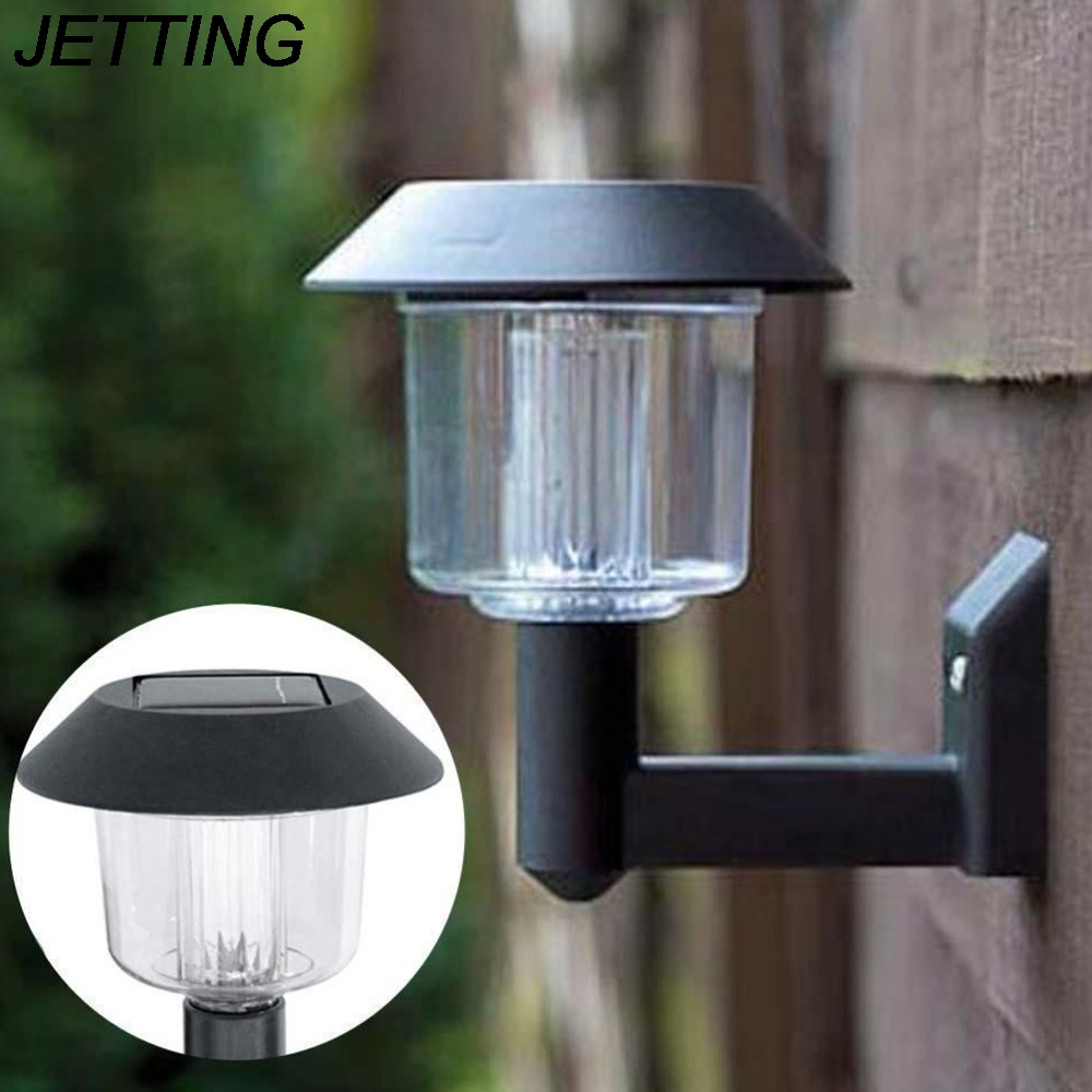 JETTING 1PCS New Arrival Outdoor Solar Powered Wall Light Auto Sensor Fence LED Garden Yard Fence Lamp