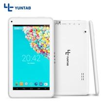 T7 Yuntab 7 pulgadas Andriod 4.4 Tablet PC Quad Core de Doble Cámara de 0.3MP + 0.3MP 512 MB + 8 GB, 2200 mAh de la batería (negro/blanco)