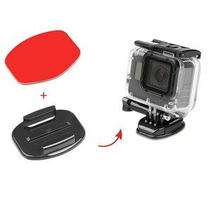 Плоский изогнутый базовый кронштейн SHOOT и клейкие наклейки, крепление для GoPro Hero 8 7 5 Xiaomi Yi 4K Sjcam Sj4000 Go Pro Hero 7, аксессуары