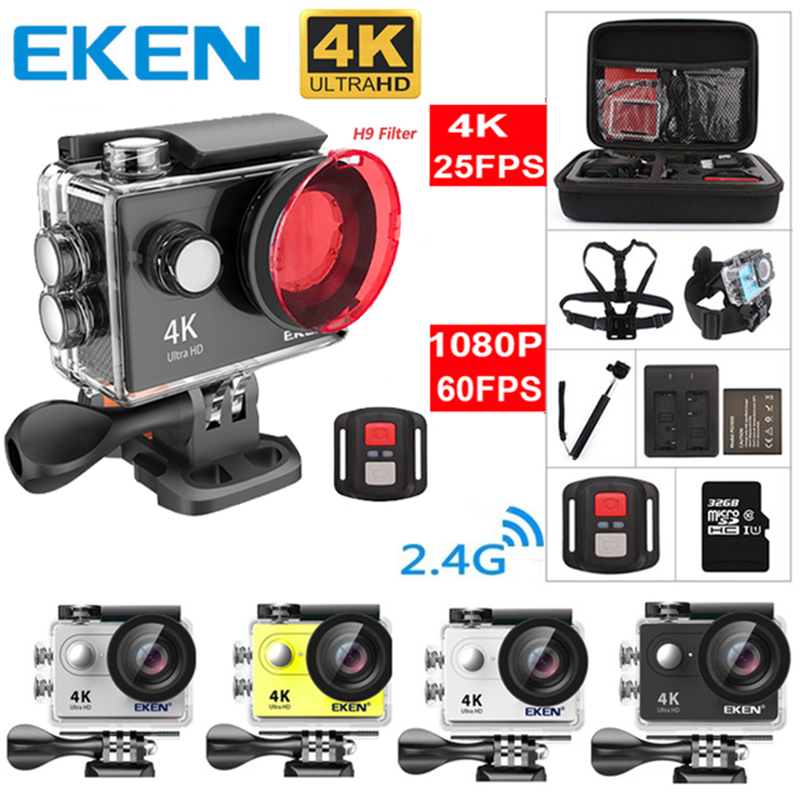Original EKEN H9 H9R Ultra HD 4K 25fps Action Camera 30m waterproof 2-inch LCD Screen Wi-Fi Remote Gopro Style Sports Camera аксессуар gopro wi fi smart remote armte 002