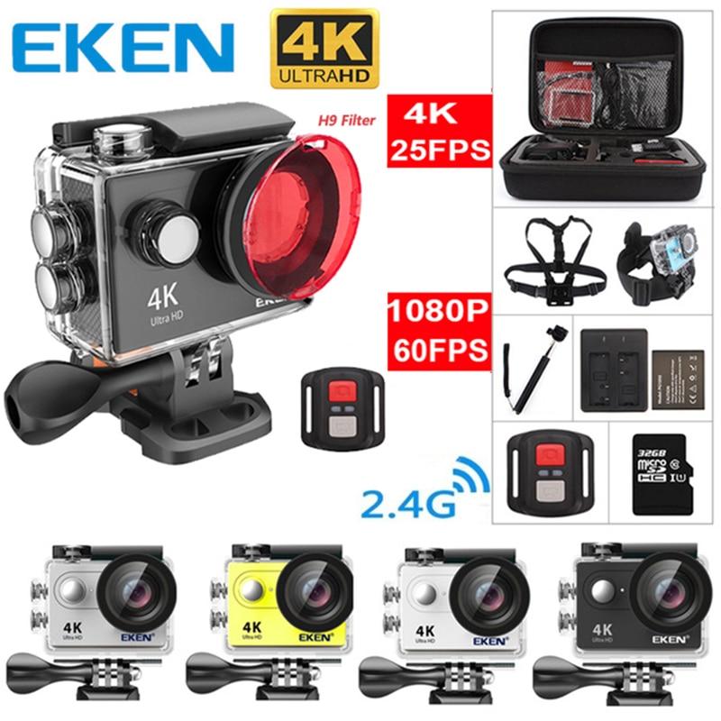 Original EKEN H9 H9R Ultra HD 4 karat 25fps Action Kamera 30 mt wasserdicht 2-zoll LCD Bildschirm Wi-Fi fernbedienung Gopro Stil Sport Kamera