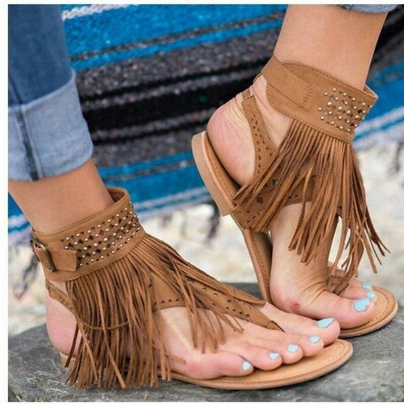 2018 shoes Women sandals women Summer shoes  flat Shoes Roman gladiator sandals mujer sandalias Ladies Flip Flops Footwear 2233W цена и фото