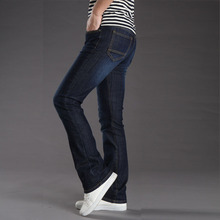 Mens Stretch Slim Bell Flare Cut Jeans Men Flared Long Trouser Denim Jeans Pants For 4 Seasons Size 28-38