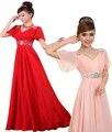 2017 new bride yellow V neck Lace up Evening dress crystal Beading Waist Bandage Prom dress