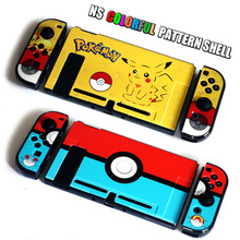 Yoteen Color Print Case For Nintendo Switch NS Pattern Case Protective Hard Cover Shell Skin For Nintendo Switch Console protective case crystal cover shell shockproof back clear ultra thin transparent for nintendo switch ns game console controller