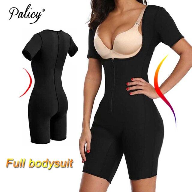 Women's Full Body Shaper Modeling Strap S-3XL Plus Size Neoprene Tank Top Sweat Sauna Suit Elastic Slim Vest Shapewear Bodysuits