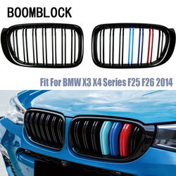Samochód nerek zderzak przedni wyścigi grille dla BMW X3 F25 X4 F26 M wydajność akcesoria Motorsport serii X 2014 2015 2016 2017