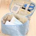 Cosmetic bag Quilted professional makeup organizer femal large capacity storage handbag travel toiletry cosmetic box