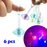 Light Dolls 2019 TOP 6 Pcs LED Light Up Flashing Finger Rings Party Favors Glow Kids Children Toy 5.14
