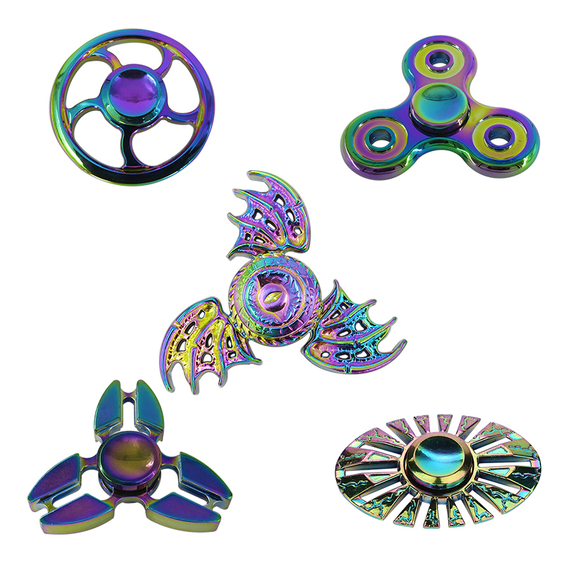 New Hot Fidget Spinner Hand Spinner EDC Metal Alloy Tri Toys Gift For Kids Adult Autism ADHD Anxiety Stress Relief Handspinner infinity cube new style spinner fidget high quality anti stress mano metal kids finger toys luxury hot adult edc for adhd gifts