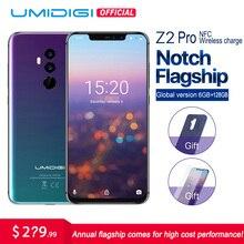 "UMIDIGI Z2 Pro 6,2 ""Pantalla smartphone Android 8,1 6 GB 128 GB Helio P60 16MP Quad lente 4G LTE NFC carga inalámbrica del teléfono móvil"