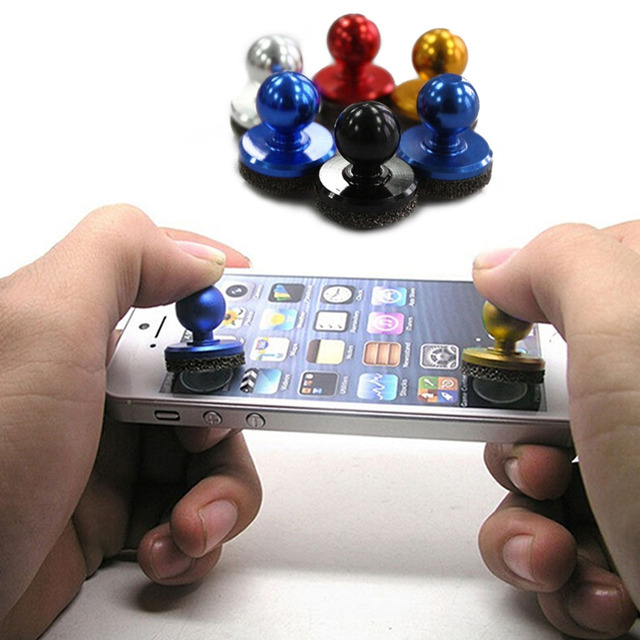 New Hot 2Pcs Small Size Stick Game Joystick Joypad For iPhone for Pad Touch Screen Mobile phone Mini Rocker