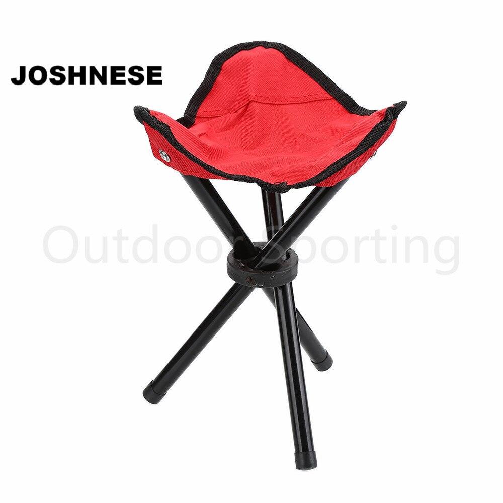 JOSHNESE Brand Lightweight Folding Portable Outdoor Camping Hiking Fishing  Stool Picnic Beach Garden BBQ Stool Tripod Chair Seat