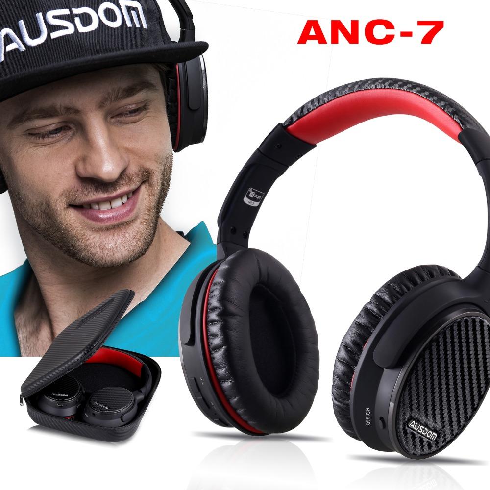 Prix pour Ausdom anc7 suppresseur de bruit actif casque sans fil bluetooth casque stéréo avec super bass et extrêmement confortable-noir