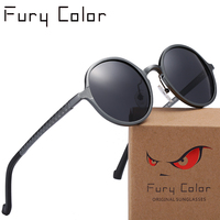 Retro Polarized Sunglasses Steampunk Small Round Metal Frame Men Women Driving Vintage Female Sun Glasses Male