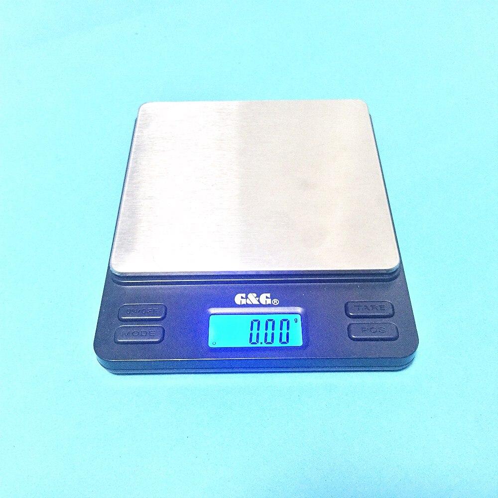 Balance électronique Portable Mini 2000g/0.1g bijoux en or poche postale cuisine bijoux Balance de poids Balance numérique