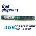 Фабрика Новый DDR3 4 ГБ 1333 PC10600 рабочего ram memoria двусторонняя 16 чипов, совместимых с INTEL и AMD