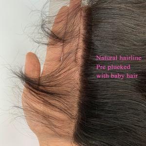 Image 4 - 7x7 Körper Welle Spitze Verschluss 150 Dichte Pre Gezupft Mit Baby Haar Natürlichen Haaransatz Queenlike Brasilianische Remy Haar 7x7 Verschluss