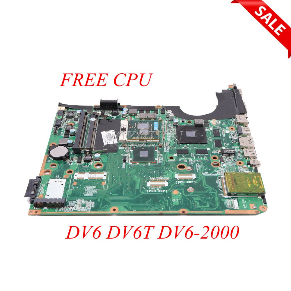 NOKOTION 605704-001 DA0UP6MB6F0 Laptop Motherboard For HP Pavilion DV6 DV6T DV6-2000 1GB video card DDR3 Main Board Free CPU nokotion 578377 001 for hp pavilion dv6 dv6 1000 laptop motherboard pm45 ddr3 free cpu dsicrete graphics