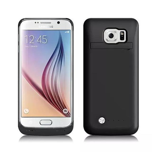 Samsung S6 kenar Güç Durumda 4200 mAh Harici Pil Şarj Pil Durumlarda Galaxy S 6 KENAR Yedekleme Şarj