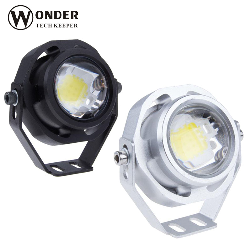 Ultra Bright 10W CREE U2 1000LM LED Eagle Eye Car Fog Daytime Running Reverse Backup Parking Signal Light Lamp IP67 waterproof  1 pair 2000lm 20w cree chips drl led eagle eye car fog daytime running reverse backup parking light lamp ip67 waterproof