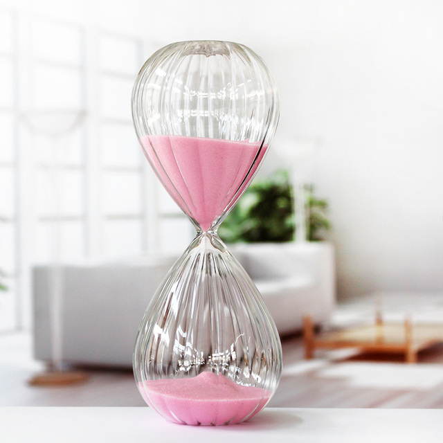 New fashion striped glass hourglass 30 minutes birthday gifts male / female couple gift Specials sand
