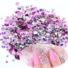 Кристалл AB, много размеров, без горячей фиксации, с красным дном, кристаллы, стразы, стекло, клей для свадебных платьев, сделай сам, дизайн ногтей, украшения
