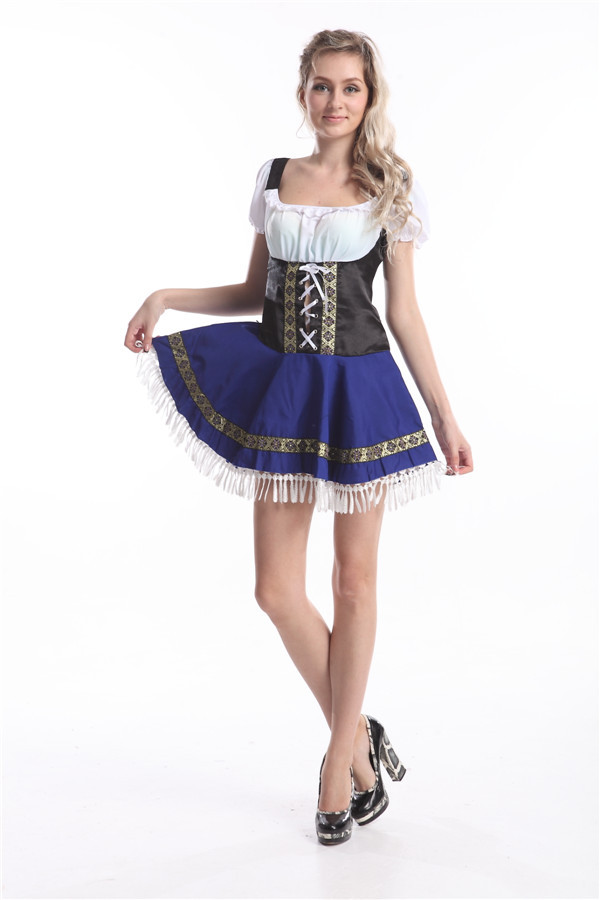 free shipping sexy Oktoberfest beer maid costume Heidi ale girl waitress outfit S,M,L,XL,2XL,3XL, 4XL,5XL IN STOCK