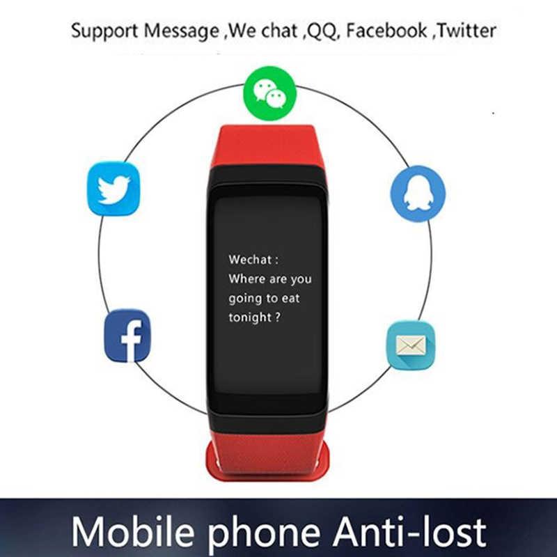 BUMVOR F1 Smartband salud reloj de alarma de llamada vibrando por xiomi Android y ios teléfono corazón supervise pulsera