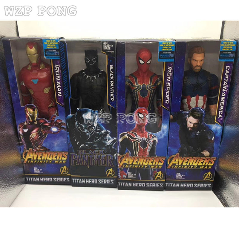 Newest Avengers 3 Infinity War Action Figure Spiderman Iron Man Black Panther Captain America Doll Super Hero Toys for Children