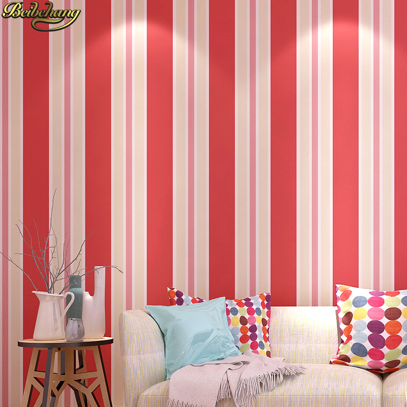beibehang papel de parede 3d Modern colored stripes wallpaper for walls 3 d wall papers home decor Living room Bedroom stickers fashion letters and zebra pattern removeable wall stickers for bedroom decor