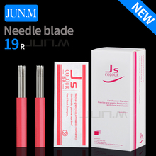 50Pcs 19 Round Needles For Microblading Manual Pen Semi Permanent Makeup Manual Fog Pen Needle R19 Tattoo Eyebrow Pen Needles