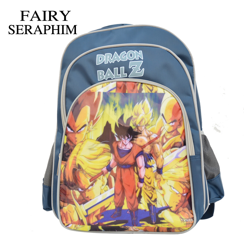 FAIRY SERAPHIM Children Cartoon school backpack characters Robocar <font><b>Sayajins</b></font> bags boys and girls mochila dragon ball Z Backpack image