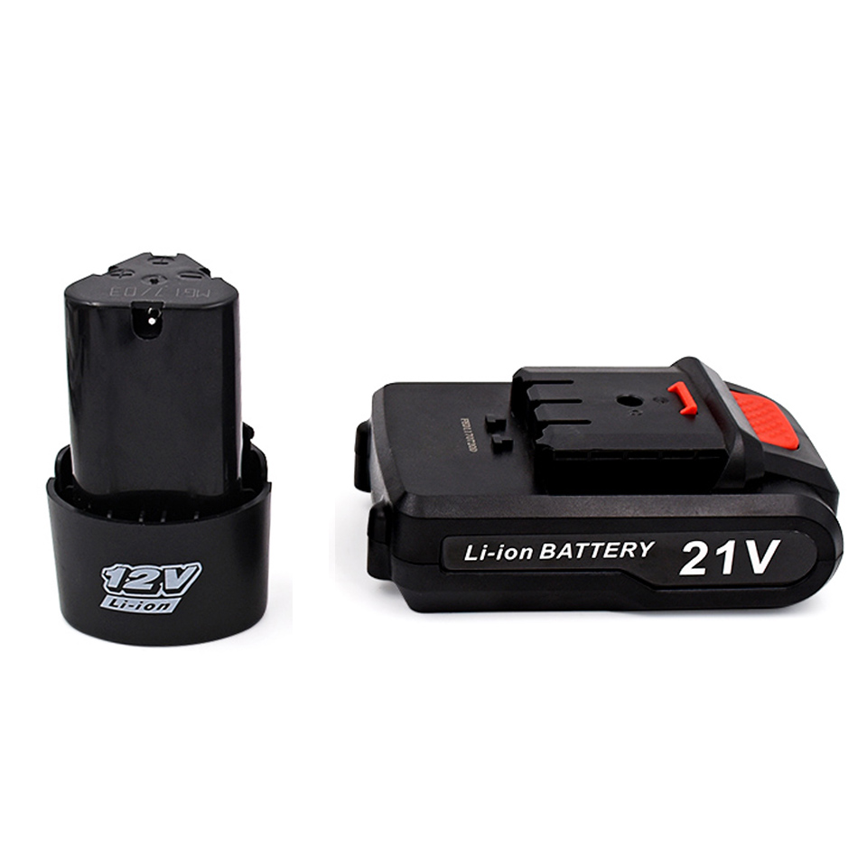 21V/12V Cordless Electric Screwdriver Rechargeable Lithium Battery For Electric Screwdrivers Drill Power Tools Accessories