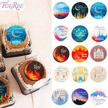 Eid Al Adha Mubarak Decor kraft Paper Sticker label sticker handmade Islamic Muslim Decoration Ramadan