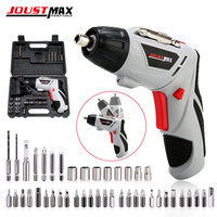 4.8V Electric Screwdriver Cordless Drill Mini Wireless Power With LED Light Dremel Multi function DIY Power Tools With 45 Bits